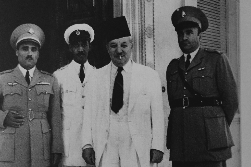 Riad with Lebanes officers in the 1940's